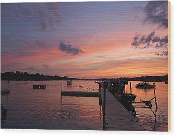 Summer At The Lake Wood Print