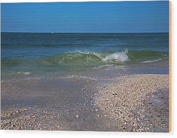 Wood Print featuring the photograph Summer At The Shore by Michiale Schneider