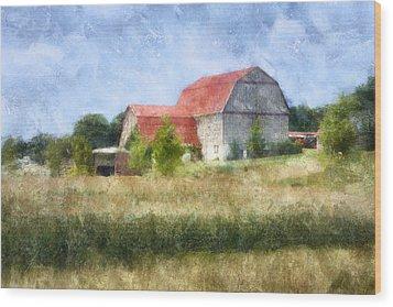 Summer Barn Wood Print by Francesa Miller
