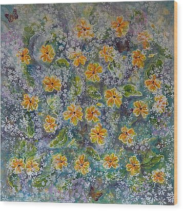 Spring Bouquet Wood Print by Theresa Marie Johnson