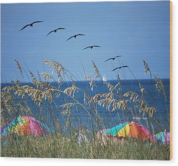 Summer Breeze Wood Print by Adele Moscaritolo