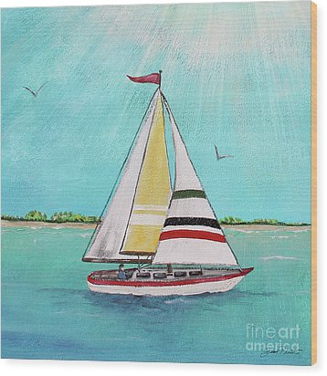 Wood Print featuring the painting Summer Breeze-d by Jean Plout