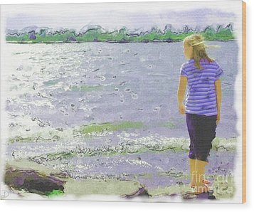 Wood Print featuring the photograph Summer Breeze by Debi Dmytryshyn