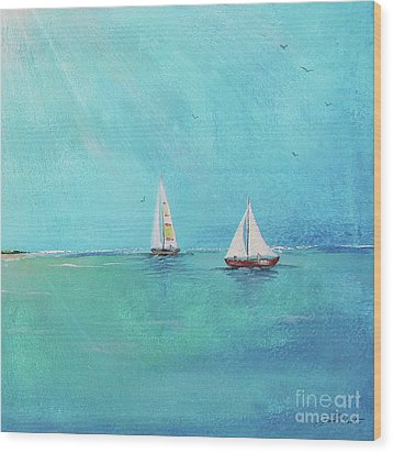 Wood Print featuring the painting Summer Breeze-e by Jean Plout