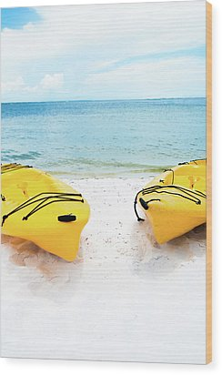Wood Print featuring the photograph Summer Colors On The Beach by Shelby Young