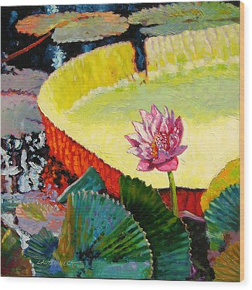 Summer Colors On The Pond Wood Print by John Lautermilch
