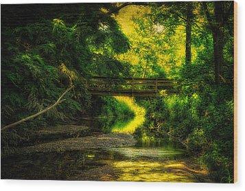 Summer Creek Wood Print by Thomas Woolworth