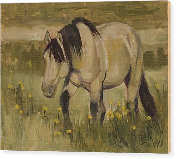 Wood Print featuring the painting Summer Days by Billie Colson