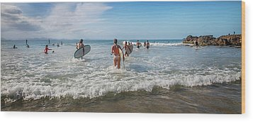 Wood Print featuring the photograph Summer Days Byron Waves by Az Jackson