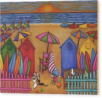 Summer Delight Wood Print by Lisa  Lorenz