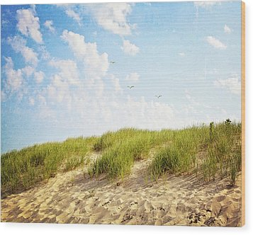 Wood Print featuring the photograph Summer Dunes by Melanie Alexandra Price
