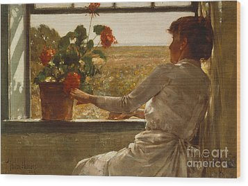 Summer Evening Wood Print by Childe Hassam