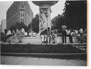 Summer Evening Dupont Circle Washington Dc Vintage 1966 Wood Print by Wayne Higgs