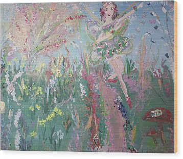 Summer Fairy Wood Print