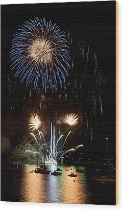 Summer Fireworks I Wood Print