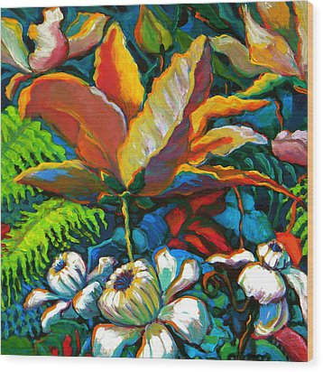 Summer Florals Wood Print by Jeanette Jarmon