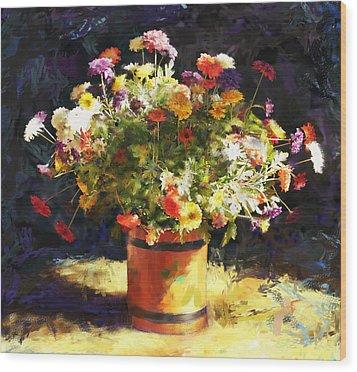 Summer Flowers Wood Print by Sandra Selle Rodriguez