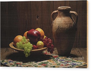 Summer Fruit Wood Print by Dodie Ulery