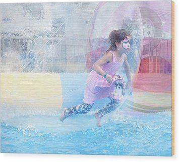 Wood Print featuring the photograph Summer Fun by Theresa Tahara