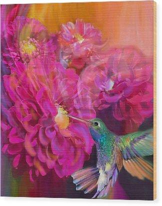 Summer In Full Bloom  Wood Print