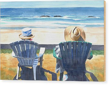 Summer In Lincoln City Wood Print by Melody Cleary