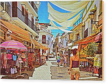Wood Print featuring the photograph Summer In Malaga by Mary Machare