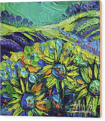 Summer In Provence Wood Print