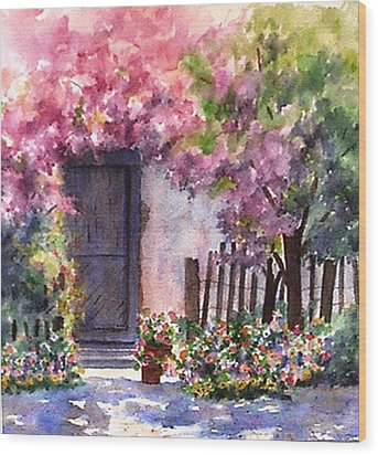 Summer In Santo Tomas Wood Print by Ann Peck