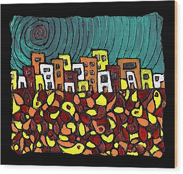 Summer In The City Wood Print by Wayne Potrafka