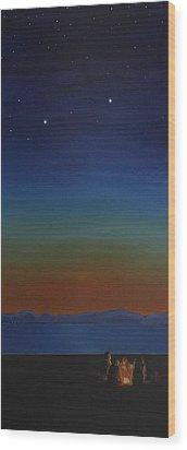 Summer In The Northwest Wood Print by Jennifer Lynch