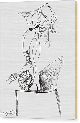 Summer Wood Print by Iris Gelbart