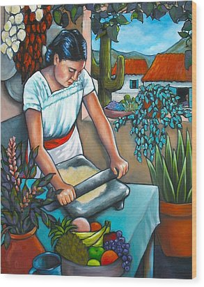 Summer Kitchen Wood Print by Lorraine Klotz