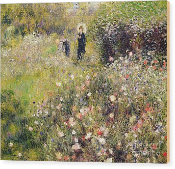 Summer Landscape Wood Print by Pierre Auguste Renoir