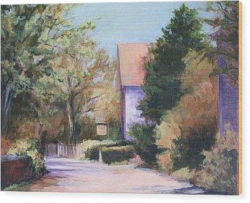 Summer Lane Wood Print by Vikki Bouffard