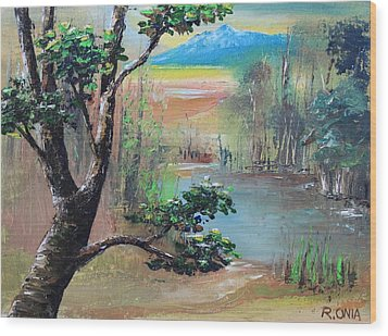 Summer Leaves Wood Print by Remegio Onia