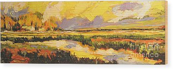 Wood Print featuring the painting Summer Light by Debora Cardaci
