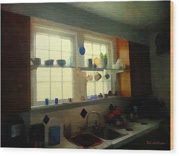 Summer Light In The Kitchen Wood Print by RC deWinter
