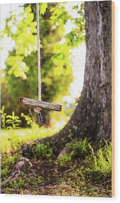 Wood Print featuring the photograph Summer Memories On The Farm by Shelby Young