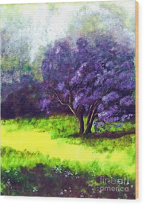 Wood Print featuring the painting Summer Mist by Patricia Griffin Brett