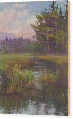 Summer Morning Beaver Marsh Wood Print
