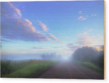 Wood Print featuring the photograph Summer Morning In Alberta by Dan Jurak