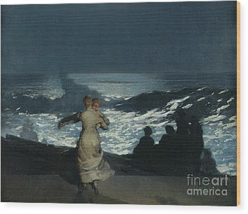 Summer Night Wood Print by Winslow Homer