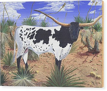 Summer On The High Mesa Wood Print by Dan RiiS Grife