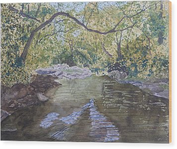 Wood Print featuring the painting Summer On The South Tow River by Joel Deutsch