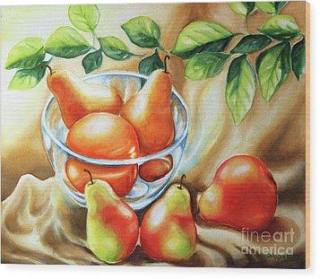 Summer Pears Wood Print by Inese Poga
