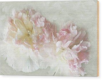 Summer Peony Wood Print by Karen Lynch