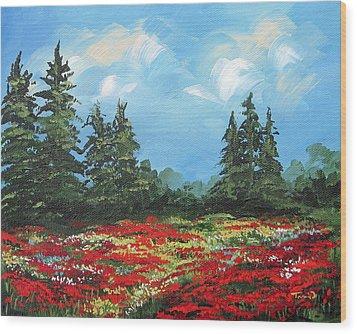 Summer Poppies IIi Wood Print by Torrie Smiley