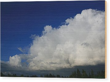 Summer Rains Over Mill Creek Wood Print