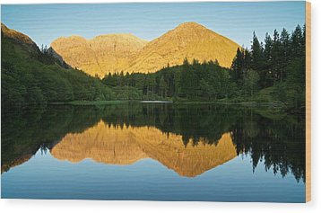 Summer Reflections In Glencoe Wood Print