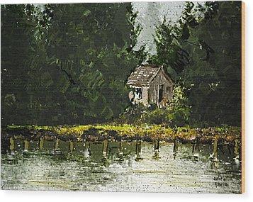 Wood Print featuring the digital art Summer Retreat by Dale Stillman